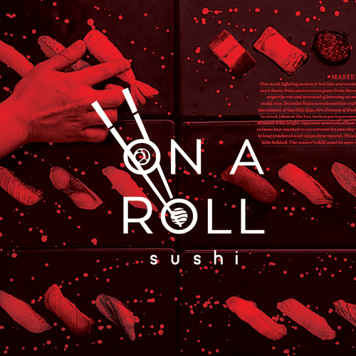 design logo for sushi roll