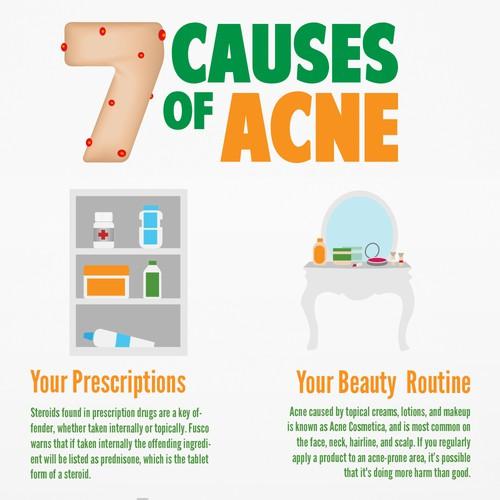Info-graphic design for acne prevention