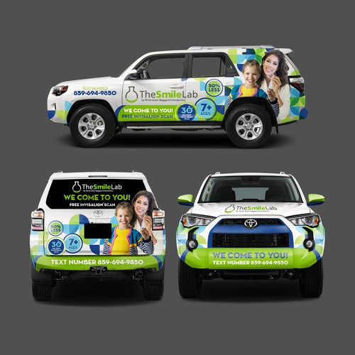 The Smile Lab SUV Wrap