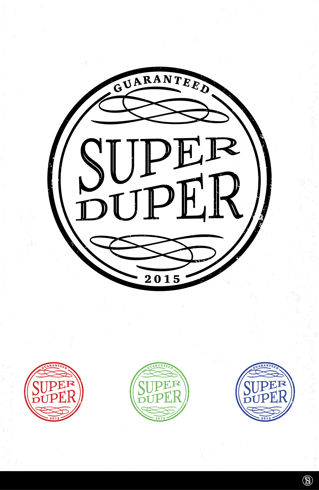 """Please design """"Super Duper"""" icon which will be provide duper duper restaurants or retail."""