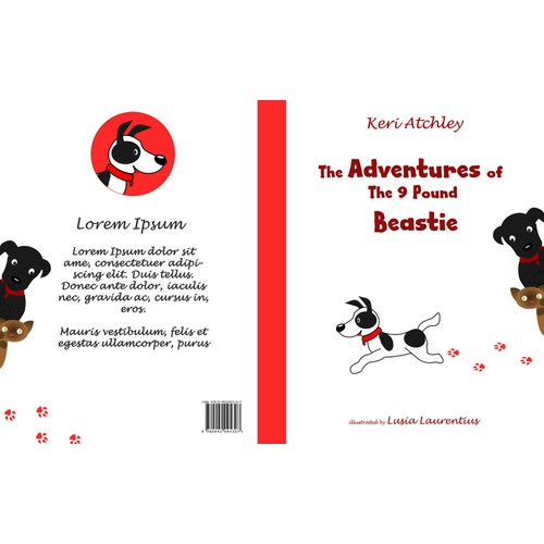 """The Adventures of the 9 pound Beastie"" Character/Book Cover"