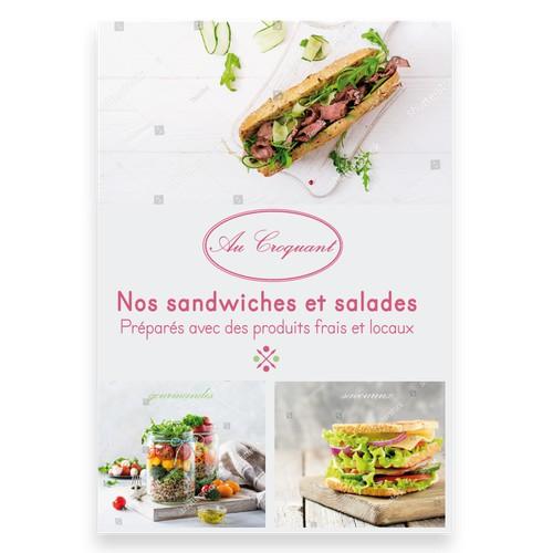 Affiche pour une nouvelle gamme de plats préparés dans un réseau de boulangeries