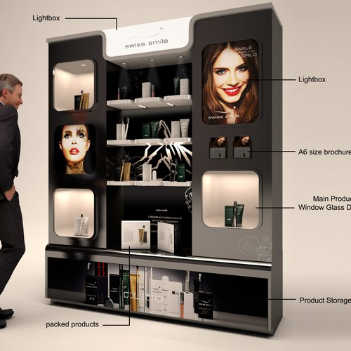 Cosmetic self-stand display