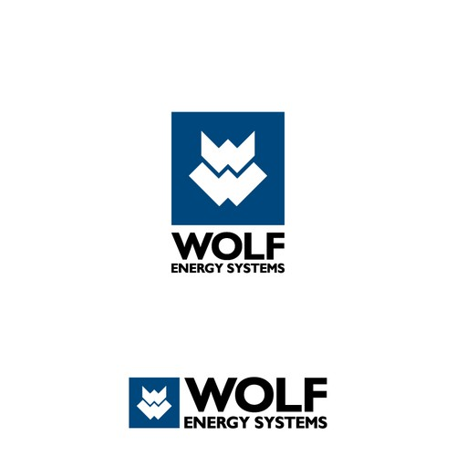 Create a stylized logo for Wolf Energy Systems
