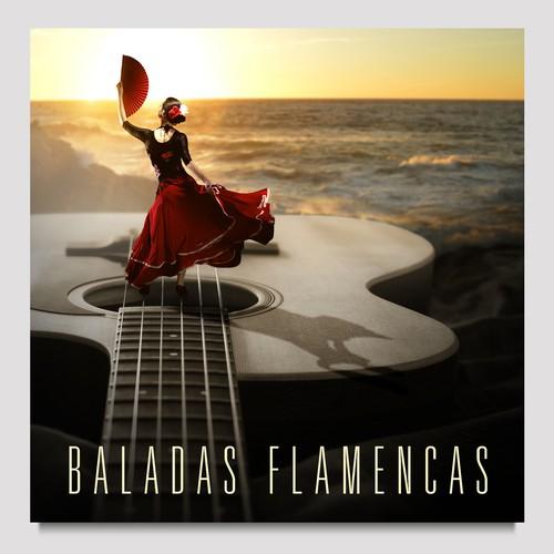 Cover for a digital music album Baladas flamencas