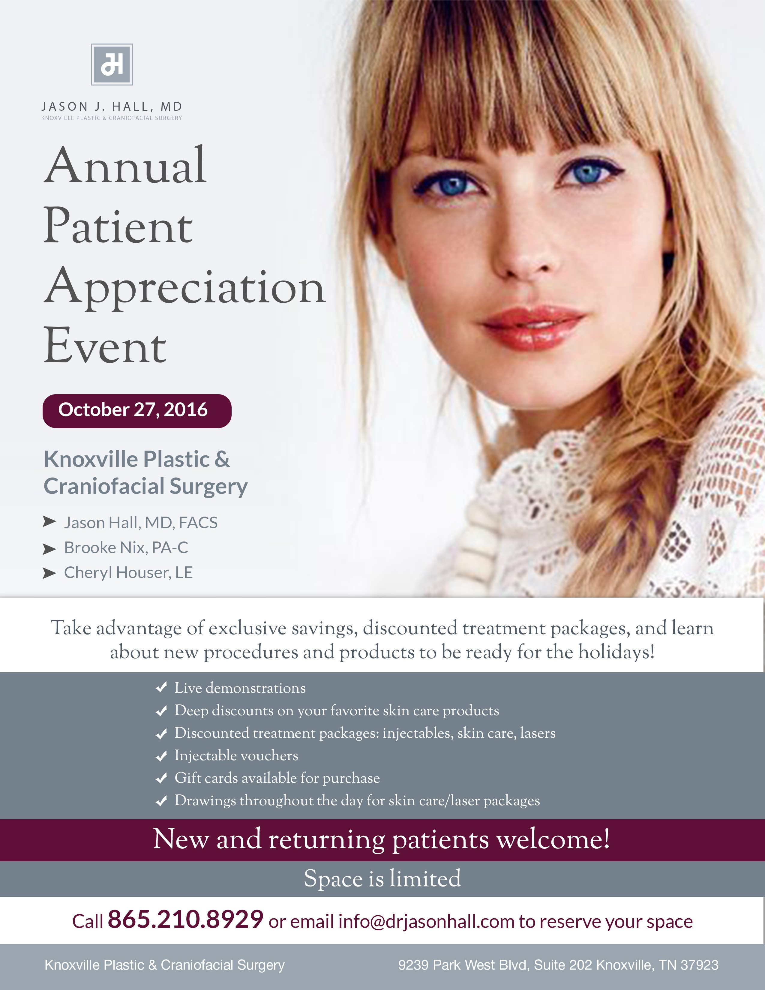 Create a print/web ad for cosmetic plastic surgery practice