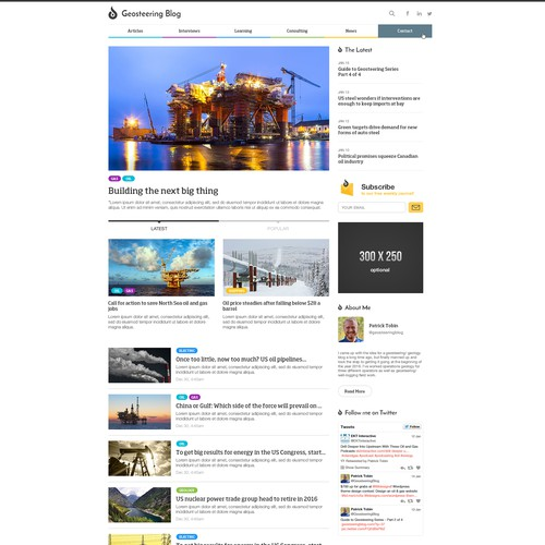 Oil & Gas Blog Webdesign
