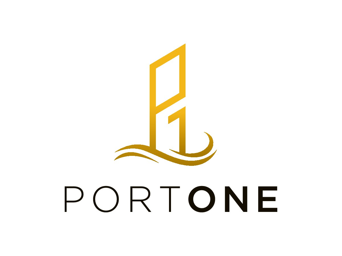 "Design a logo for ""PortOne"" a modern housing complex"