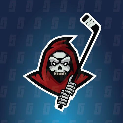Grim Hockey - Grim Reaper Mascot