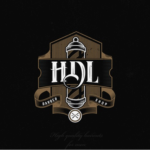 "Vintage logo design concept for ""HDL"" barber shop..."