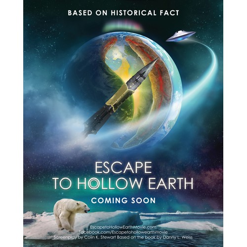 """Film Poster for upcoming movie """"Escape to Hollow Earth"""""""
