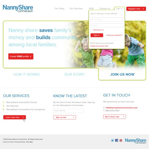 Help NannyShare Connection with a new website design