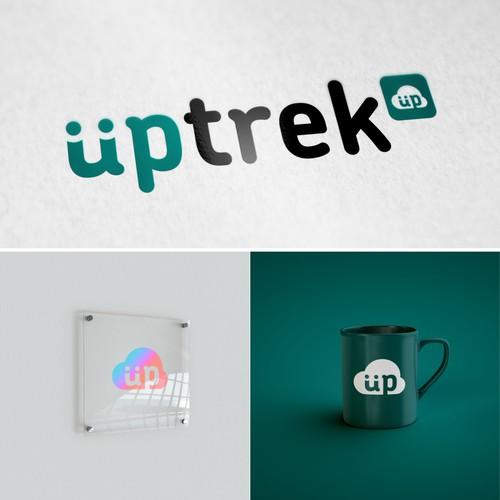 uptreck logo design for a travel-tech company.