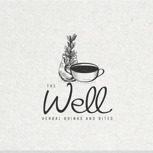 Hand drawn logo for a cafe