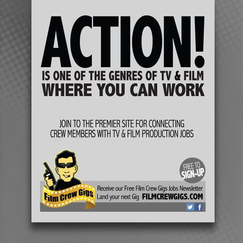 Create 1/4 Page Ad for Film Magazine
