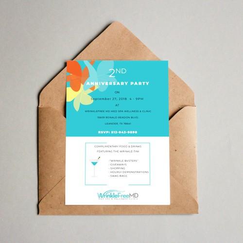 Clean festive invitation