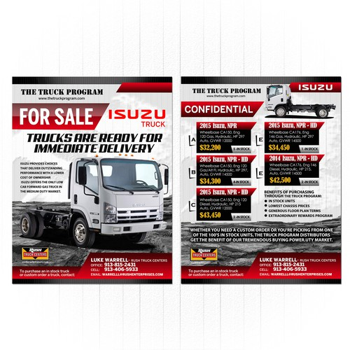 Flyer for Isuzu Truck powered by The Truck Program