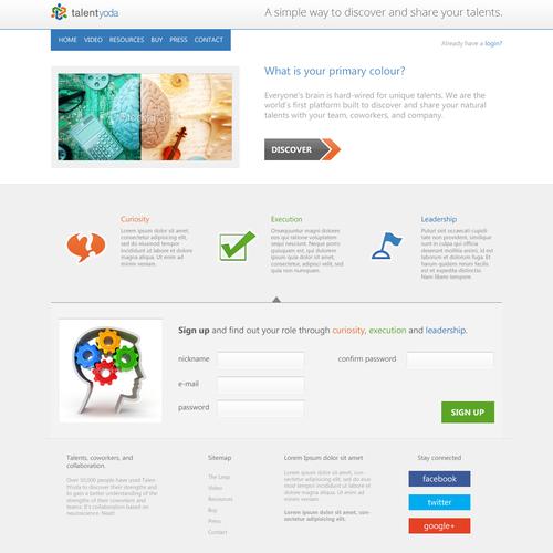 talent yoda needs a new website design
