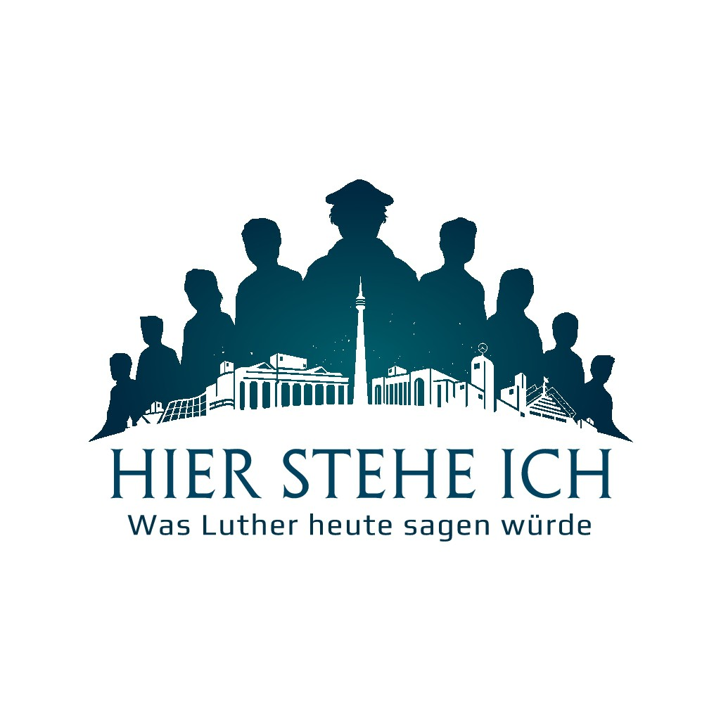 "Logo for ""Hier stehe ich"" (""Here I Stand"") event in Germany"