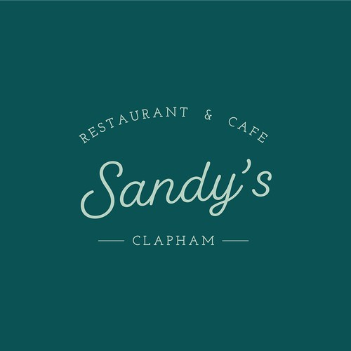 Welcoming logo design concept for local restaurant and cafe