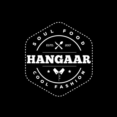 """Logo for a Clothing and Healthy food Brand """"Hangaar"""""""