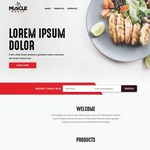 Food blog landing page