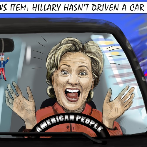 Hillary Political Cartoon