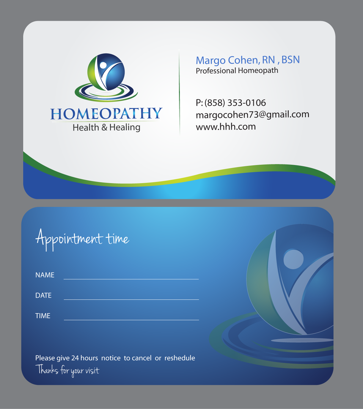 Create the next stationery for Homeopathy Health & Healing