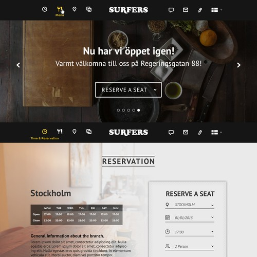 Web Design for Asian-fusion Restaurant in Sweden