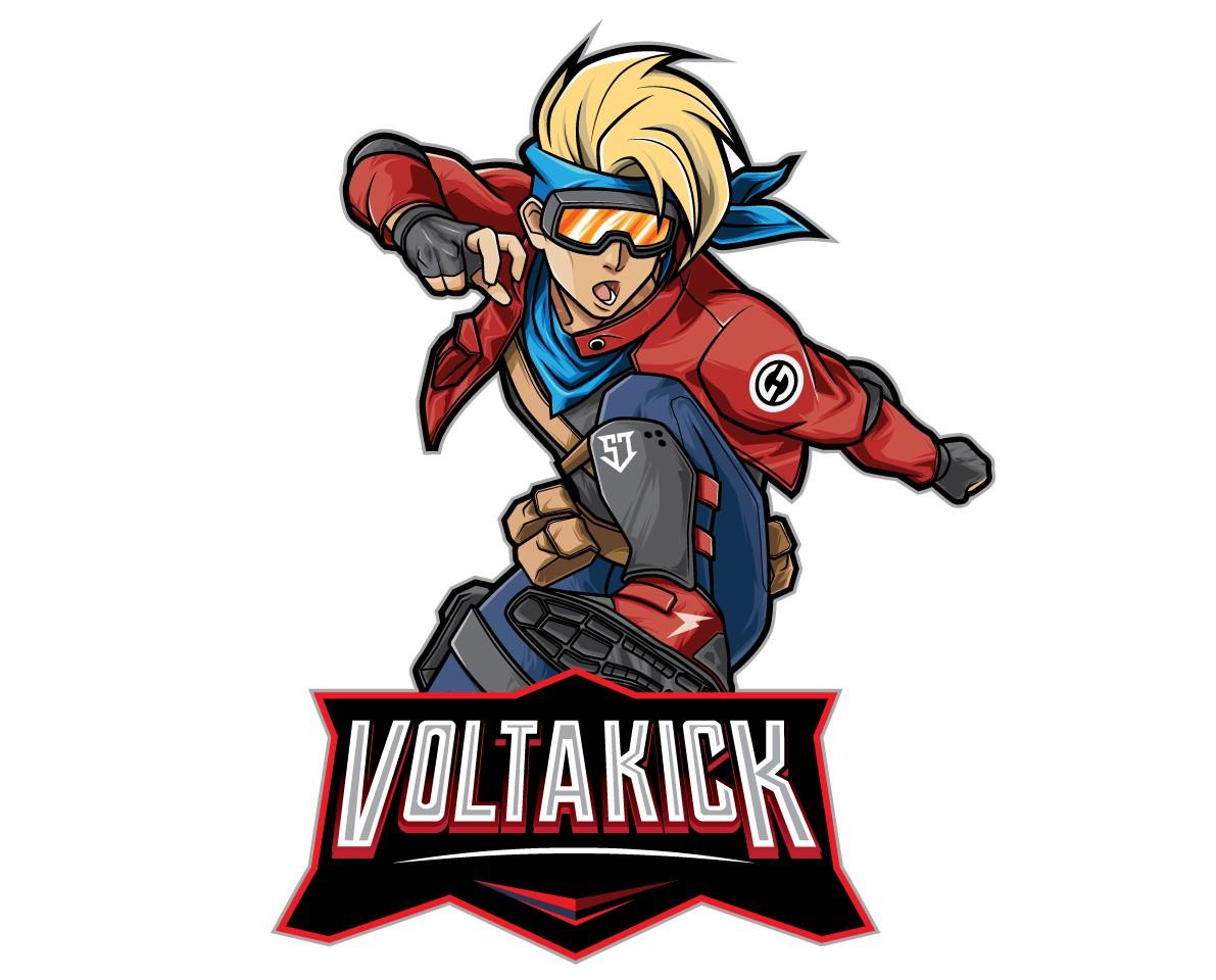 Full Body Front Character - Volta Kick