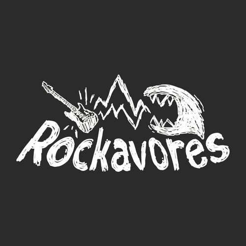 Scribble Rock Band Logo