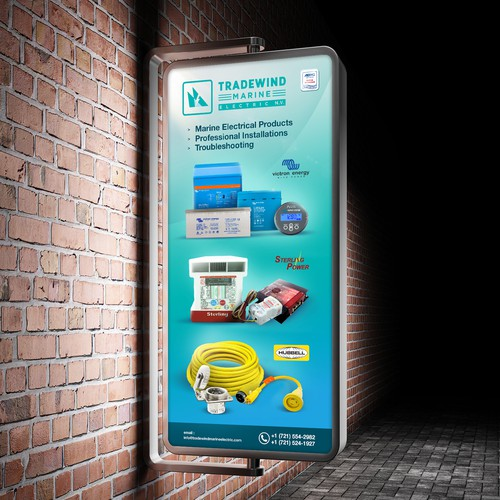 TradeWind Marine Electric Poster Ads