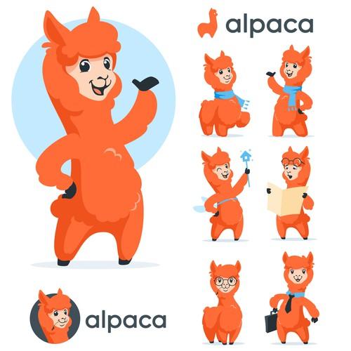 Alpaca mascot