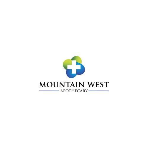 Simple Logo for Mountain West Apothecsry