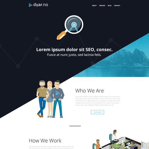 Create a absolutely stunning flat website for SEO firm