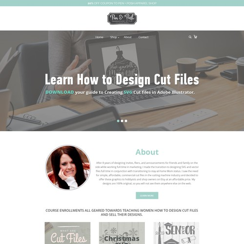 Homepage Redesign for Trendy, DIY Crafty, Entrepreneur Site for Women