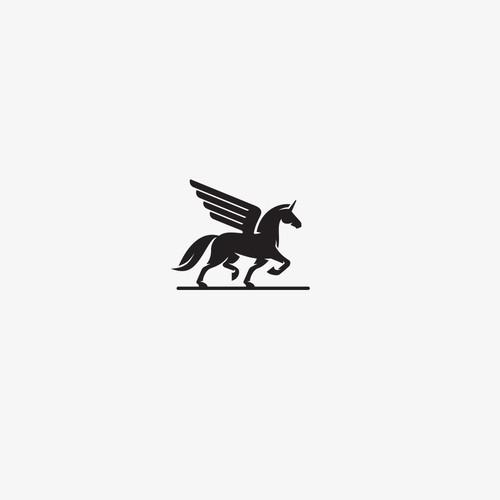 Timeless, simple and elegant unicorn themed logo