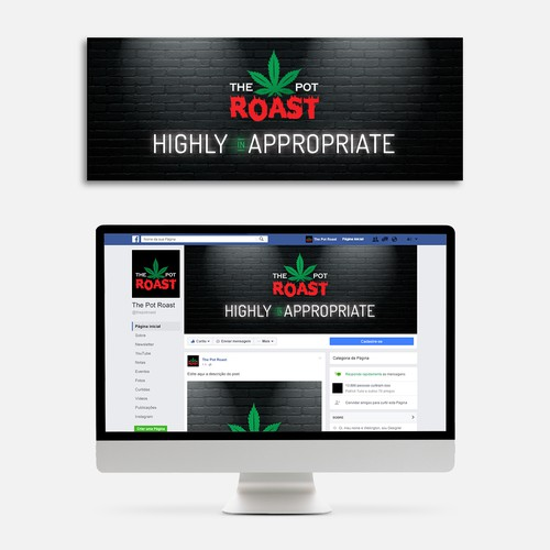 Facebook cover design for The Pot Roast