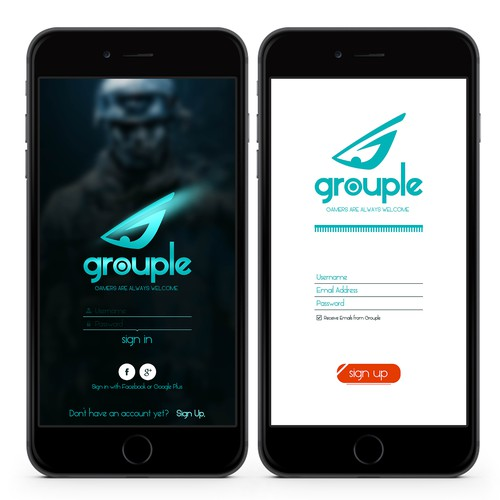 Grouple App Design