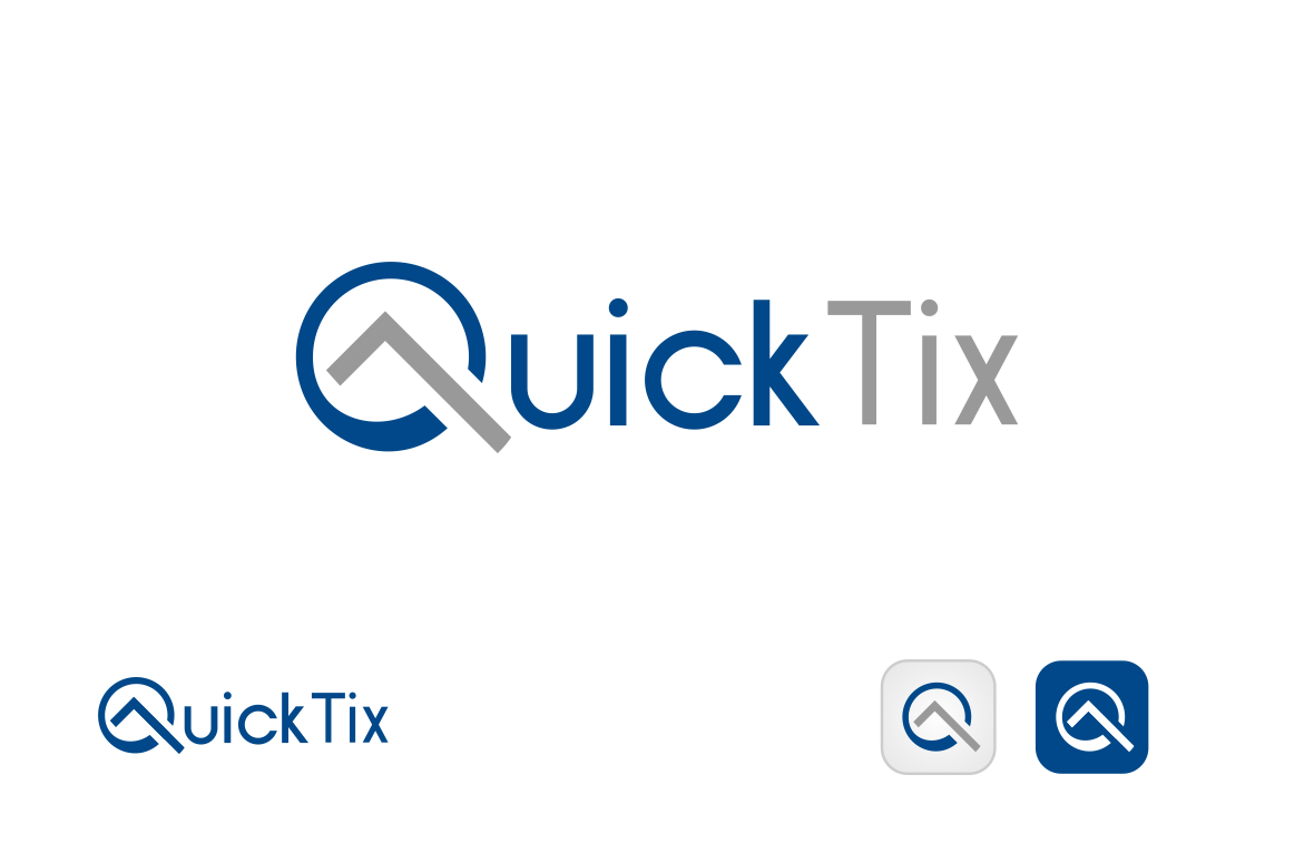 Quick Tix App Logo Design