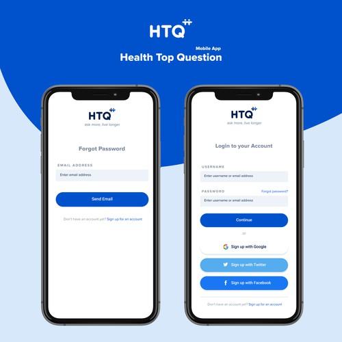 HTQ Mobile App Desgin