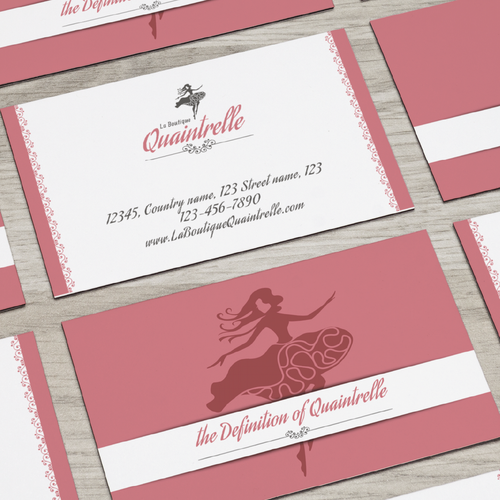 Sophisticated logo for an upscale women's apparel shop