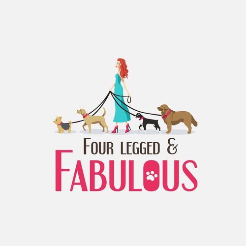 Logo design concept for Four Legged & Fabulous