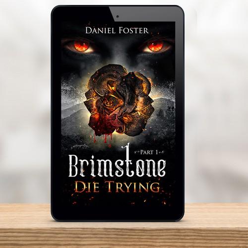 Book cover design for Daniel Foster-Brimstone