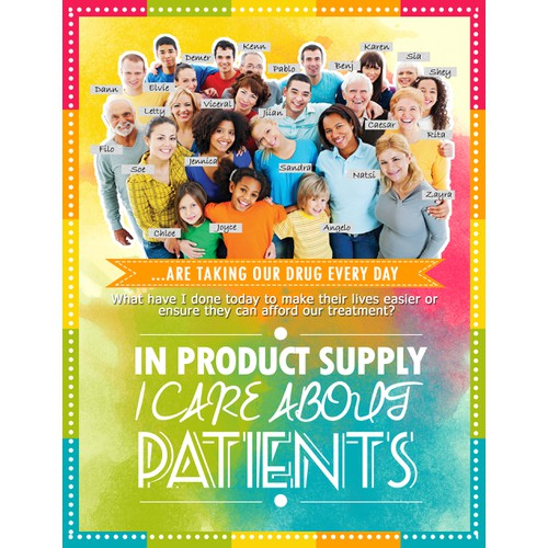 I care about patients Poster layout design