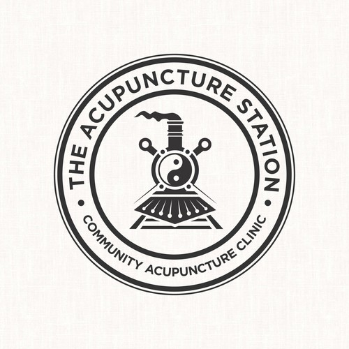 Logo stamp concept for The Acupuncture Station