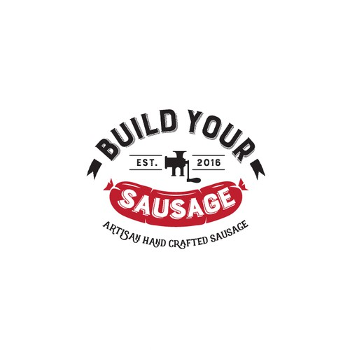 Logo for an artisan hand crafted custom sausage maker.