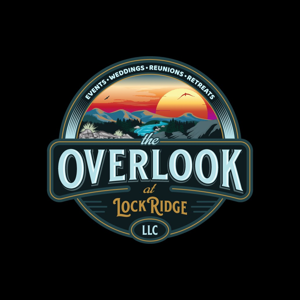 Logo for The Overlook @ Lock Ridge, LLC, an Event Venue with Stunning Views of the Shenandoah River