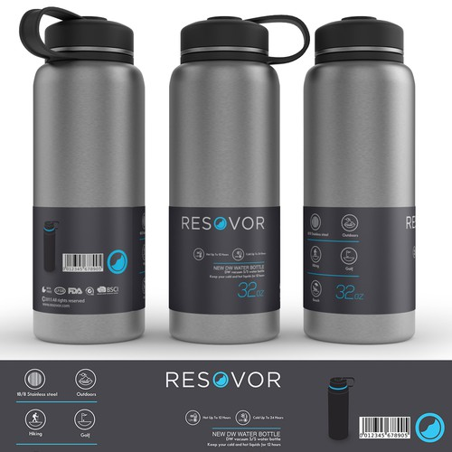 cool label design for water bottles