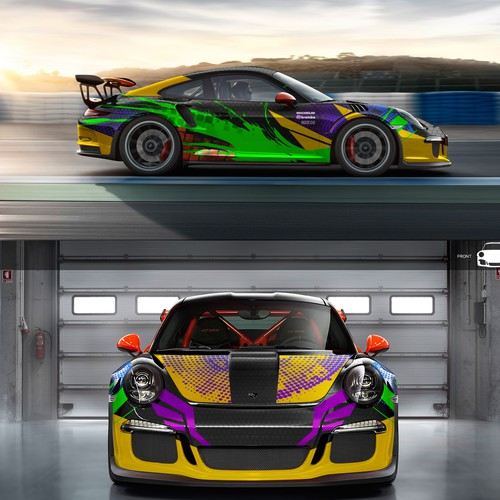 Porsche 911 GT3 Race Car Wrap